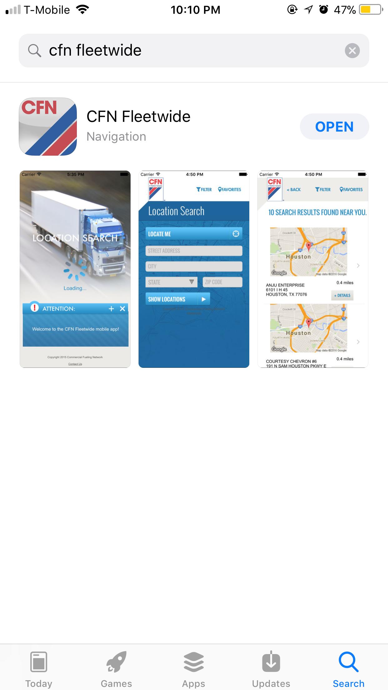 CFN Fleetwide iPhone App