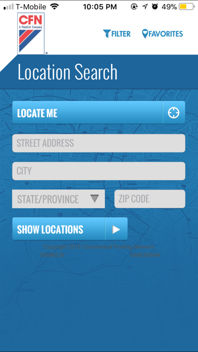 CFN iPhone App Location Search