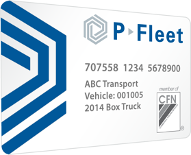 P-Fleet CFN Fuel Card
